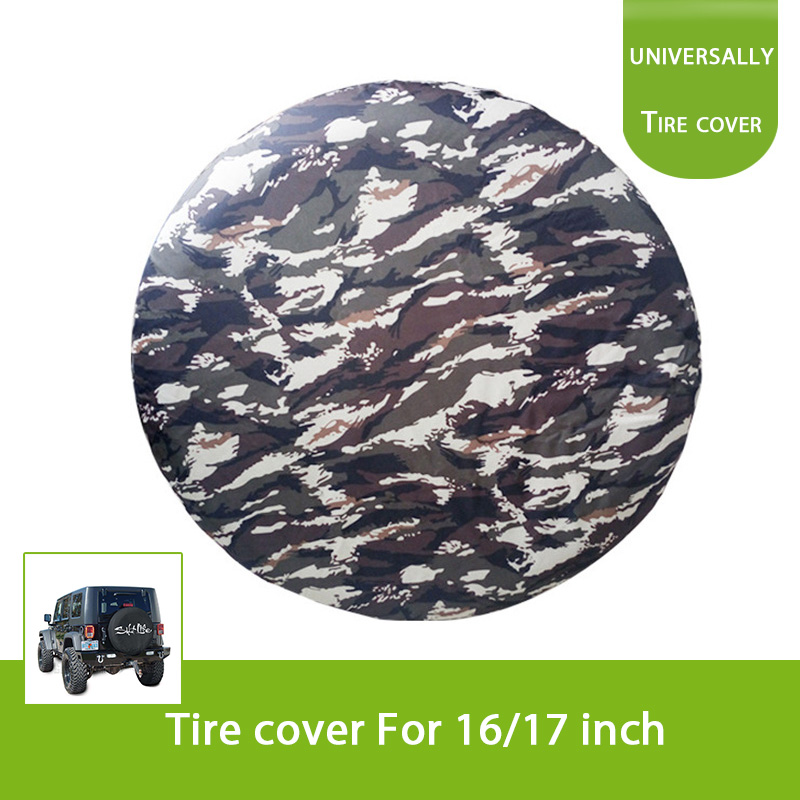 Camouflage Spare Tire Cover Universal Overdrive For Jeep Trailer RV SUV Truck and Many Vehicle Wheel diameter 24inch 32inch