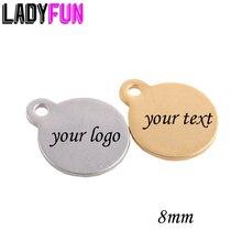 Preço barato aço inoxidável nome etiqueta ouro chapeamento logotipo personalizado corte nome charme com cílio ou gravado