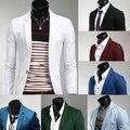 2015 новое поступление весна / осень мода конфеты цвет стильный slim-подходят мужские пиджак свободного покроя бизнес платье пиджаки бесплатная доставка