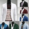 2015 chegada nova primavera / outono cor da moda doces elegante Slim Fit Mens paletó Business Casual vestido Blazers frete grátis