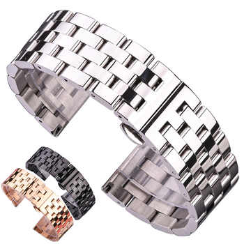 Solid Metal Watchabnds Bracelet Silver Black Rose Gold Men Women 316l Stainles Steel Watch Band Strap 20mm 22mm 24mm 26mm - DISCOUNT ITEM  47% OFF All Category