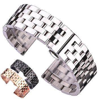 Solid Metal Watchabnds Bracelet Silver Black Rose Gold Men Women 316l Stainles Steel Watch Band Strap 20mm 22mm 24mm 26mm