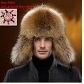 Men fur hats fox bomber hat russian outdoor casual raccoon middleaged hombre earmuffs ushanka cap winter hats ear flaps