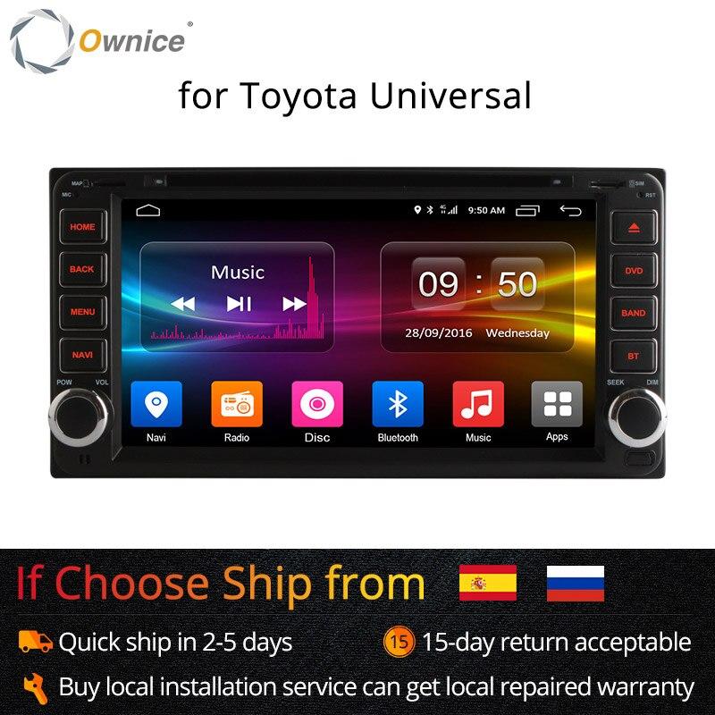 Ownice Android 6.0 Octa 8 Core 2G RAM auto dvd player für Toyota Hilux VIOS Old Camry Prado RAV4 Prado 2003-2008 4G LTE Netzwerk