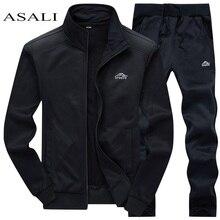 Спортивные костюмы, Мужская толстовка из полиэстера, спортивный флисовый, весенняя куртка+ штаны, повседневный мужской спортивный костюм, спортивная одежда для фитнеса