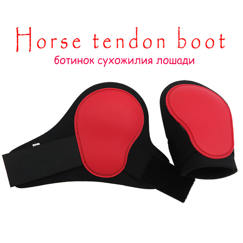 2 PCS Hind Leg Boots Adjustable Horse Hock Brace Equine Guard Equestrian Polyurethane Shell Neoprene Lining Jumping Protective