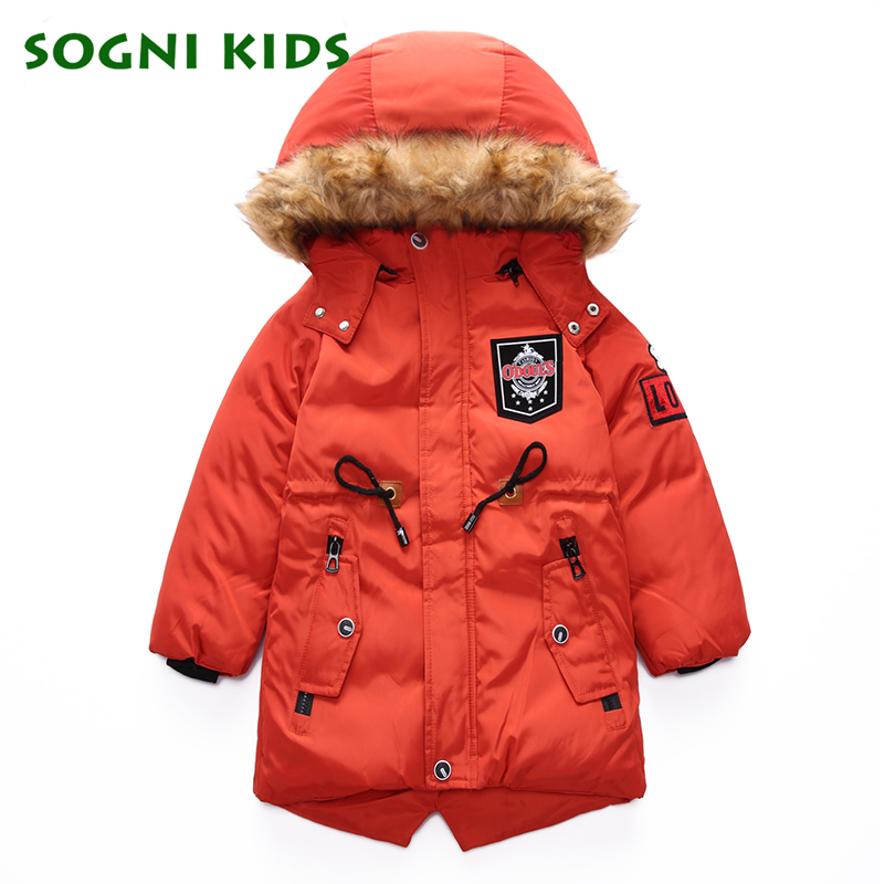 5-12Y Boys Girls Coat Parkas Outerwear turtleneck Warm Hooded Fashion Solid Kids Jacket Winter Clothes For Children Kid Clothing 2017 new children baby winter cotton padded jacket toddler girls boys zipper nylon coat fashion outerwear kids parkas clothes
