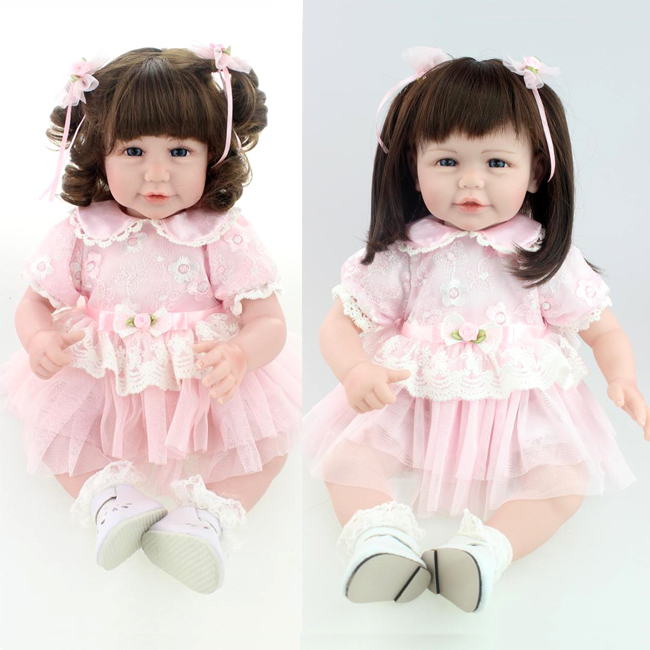 52 inch 50cm Silicone Reborn baby cute Collection Silicone lifelike baby doll for girl birthday gift
