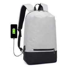 Ultralight College Style Men's Laptop Backpack With Headphone Hole USB Charging Casual Man Backpack Business Backpack For Male(China)