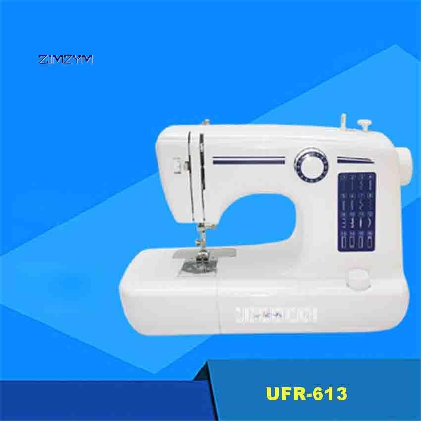 Nouveauté UFR-613 ménage électrique de bureau multifonction Mini Machine à coudre auto-enroulement petite Machine à coudre 18 W offre spéciale