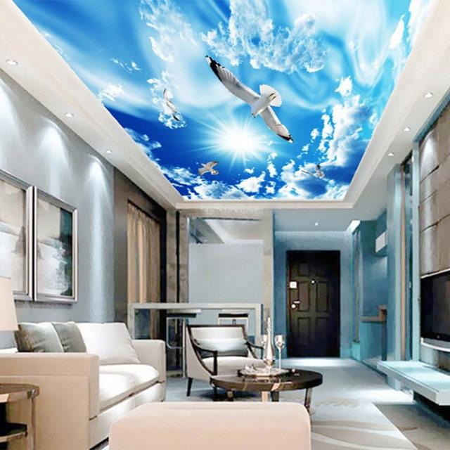 Online-Shop Blauen Himmel Weiße Wolken Sonnenschein Fliegen Seagull ...