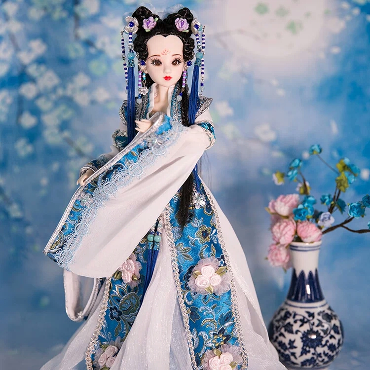 High-end Collectible Chinese Princess Dolls With Exquisite Makeup Vintage BJD Girl Dolls Christmas & Birthday Gifts 12 pretty chinese ancient bride dolls collectible tang dynasty bride toys bjd doll dress girl dolls wedding gifts
