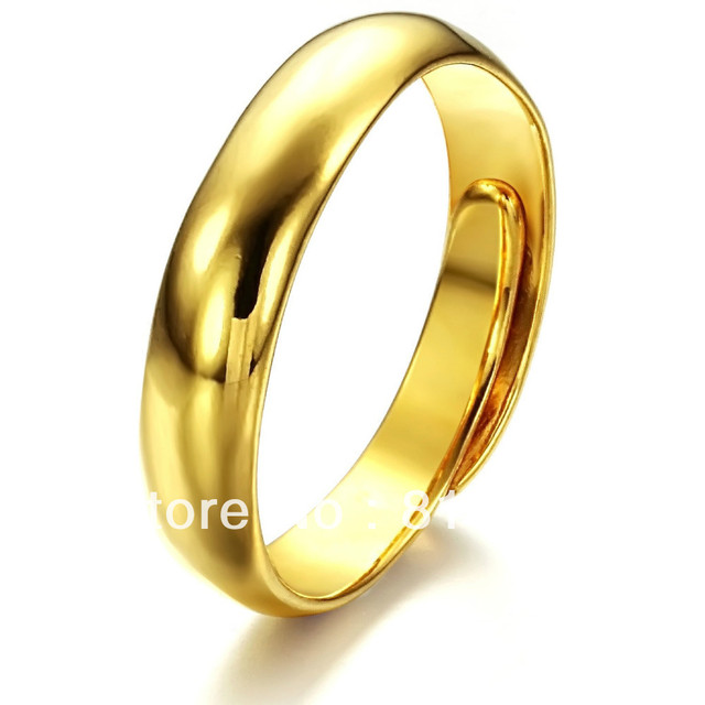 Fashion metal sample fake gold ring for women in Rings from