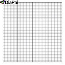 DIAPAI Square/Round Diamond Painting Canvas Cross Stitch, Specified/Custom Size White Canvas,Diamond Embroidery,Plaid Gift