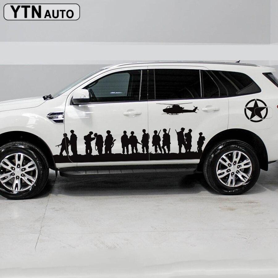 Decalques do carro 6pc side corpo irmãos pessoal styling proteger zero gráfico vinil adesivos de carro personalizado para ford everest 2015