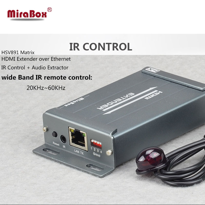 IR Control Matrix HSV891 up to 150 meters over TCP/IP by rj45 ethenet support 1080p HDMI Extender Matrix with audio extractor 80 channels hdmi to dvb t modulator hdmi extender over coaxial