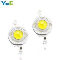 YooE 50Pcs Lots DIY High Power LED Spotlight Bulb Downlight 3W High Power 45 Mil Light