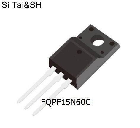 10pcs/lot 15N60 FQPF15N60C TO-220F