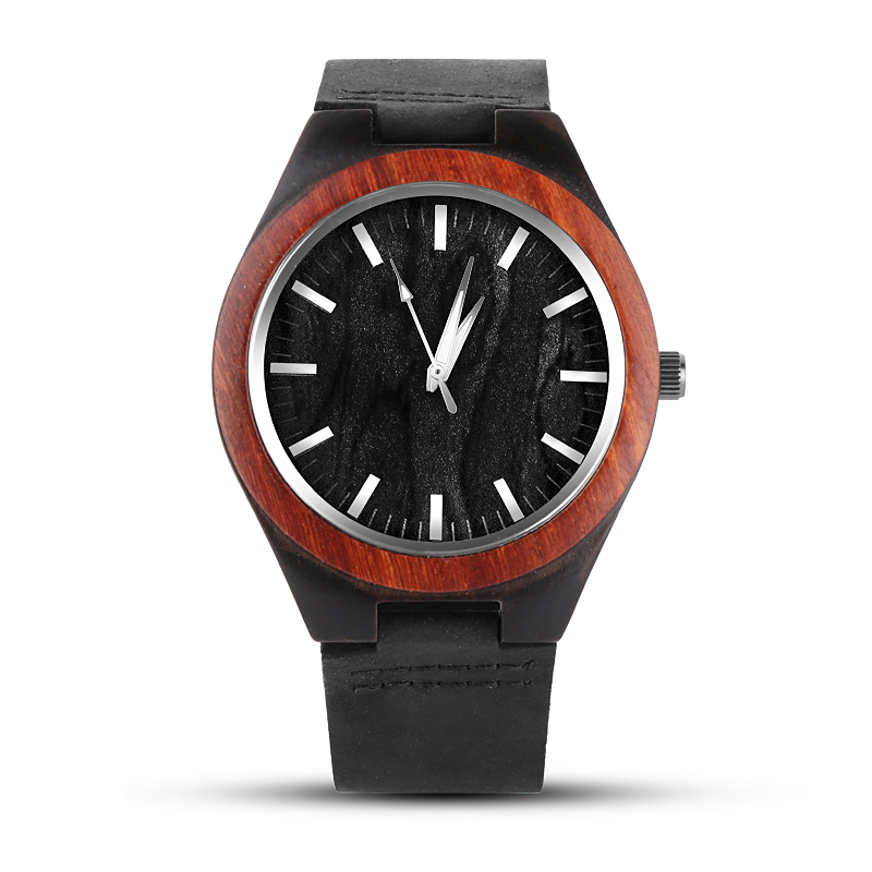 Einzigartige Holz Armbanduhr Mode Holz Uhren Beliebte Lederband