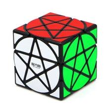 Qiyi 3x3 Пентакль Cubo Magico странной формы магический куб черный/Stickerless скоростной куб головоломка звезда твист Кубики Игрушки для детей