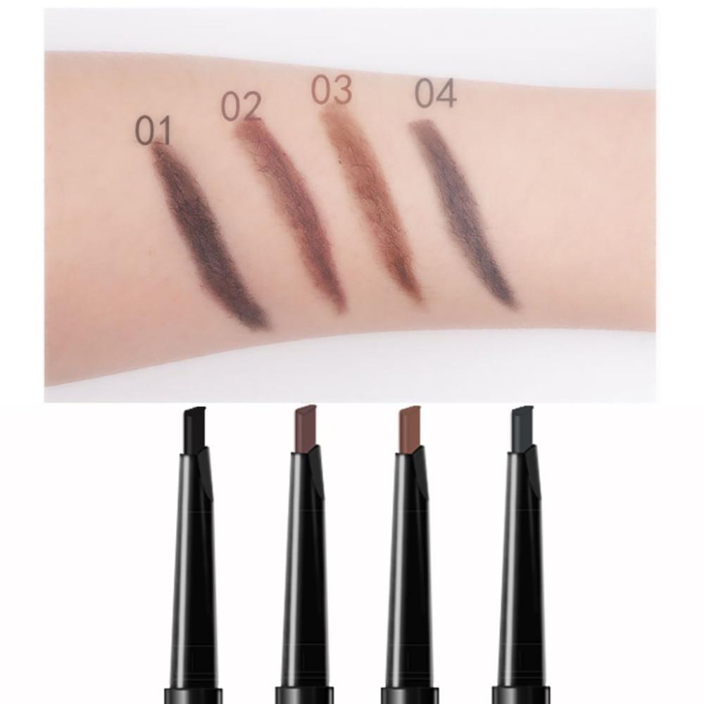 MIXDAIR automatic eyebrow pencil with eyebrow brush waterproof Triangular head dark color black brown eyebrow drawing pen MD008 3