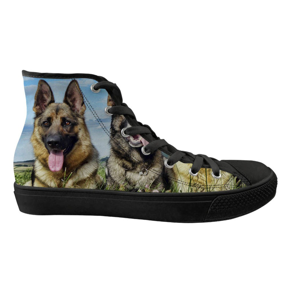 Cute Women High Top Flats Shoes Animal 3D Dog Husky Pattern Spring Casual Sneakers Womens Comfortable Lace Up ShoesCute Women High Top Flats Shoes Animal 3D Dog Husky Pattern Spring Casual Sneakers Womens Comfortable Lace Up Shoes