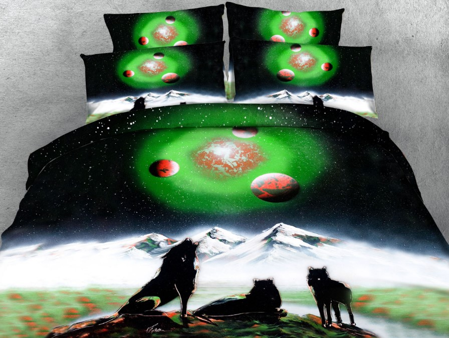 Wolf Comforter Set 3d Bedding Sets Quilt Duvet Cover Bed
