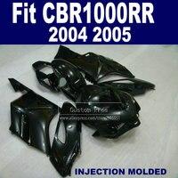 Custom ABS Injection fairing set for 2004 2005 Honda CBR1000RR CBR 1000 RR 04 05 CBR 1000RR full black fairings parts