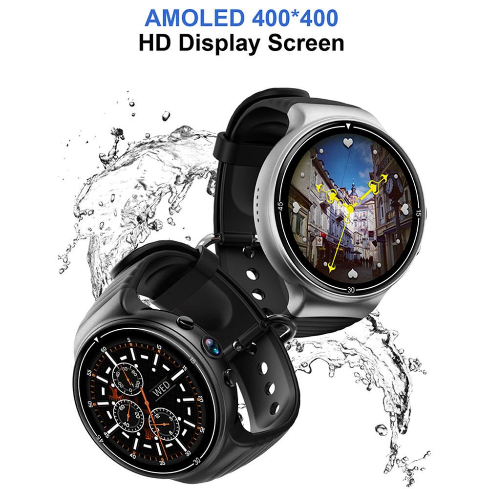I8 reloj inteligente Android 7,0 Smartwatch 4G GPS WIFI inteligente del teléfono del reloj corazón 1 GB + 16 GB de memoria con cámara PK LEM7