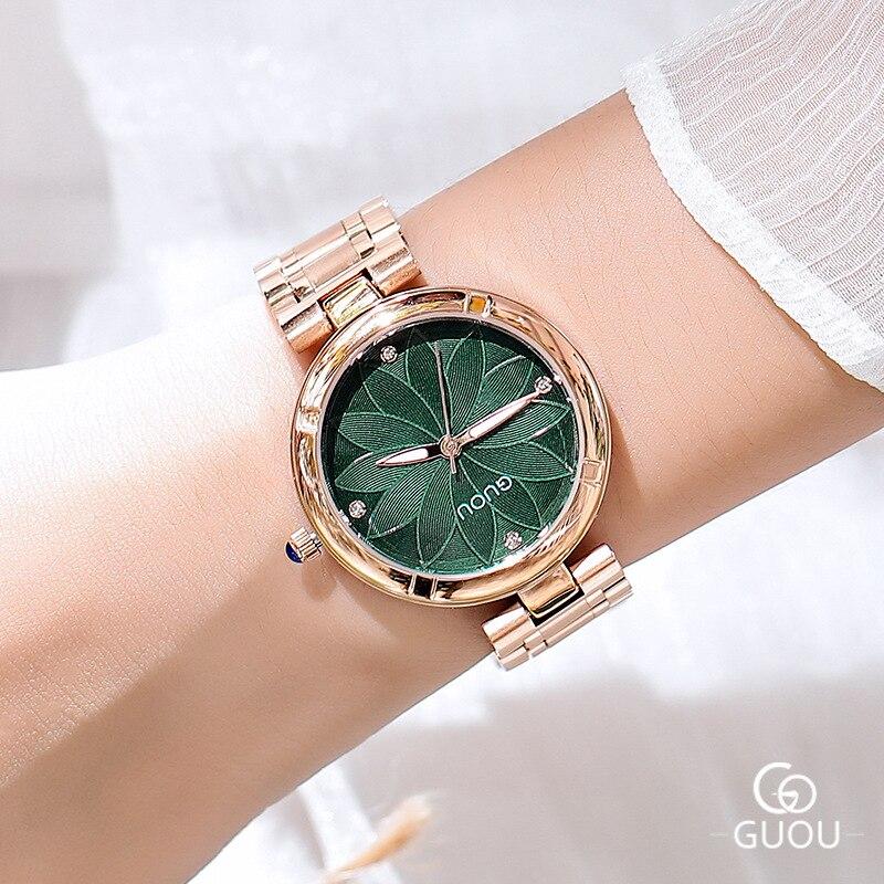 0c868282bf6 Aliexpress.com  Compre 5 cores Mulheres Relógios Senhoras de Cristal  Relógio De Pulso Redondo Moderno Ouro Rosa Relógios de Luxo Diamante  Feminino Relógio ...
