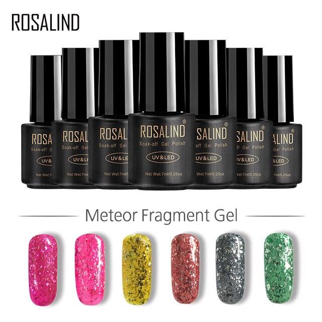 ROSALIND Gel 1S Diamond Nail Polish Glitter Colorful Gel paint Color ...