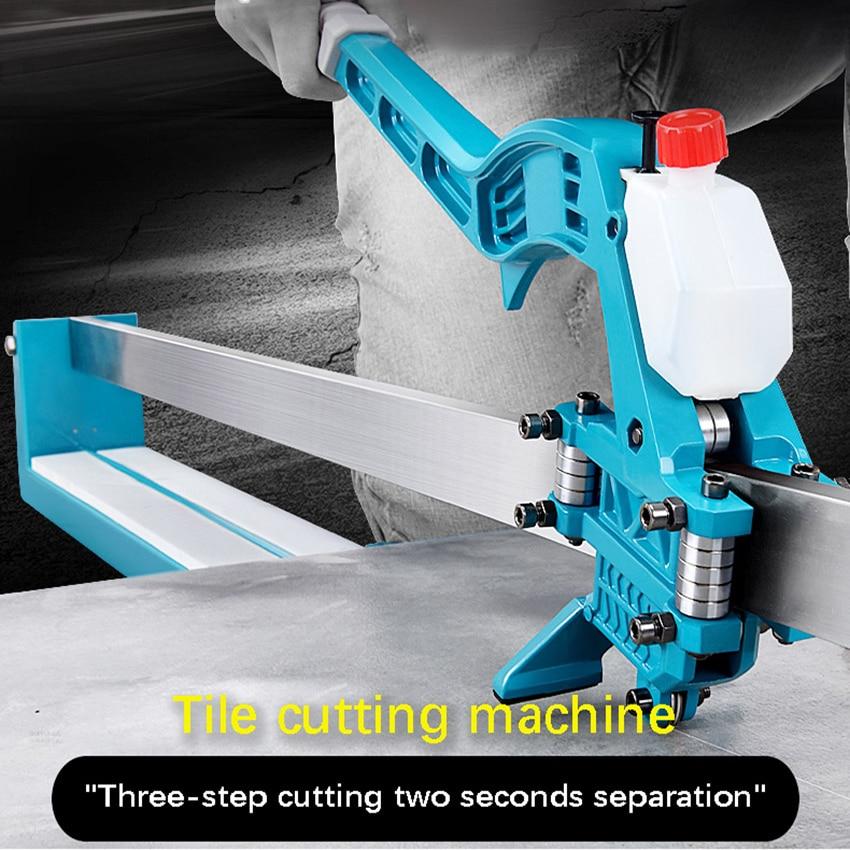 Купить с кэшбэком 1000MM High Precision Laser Infrared Manual Tile Cutting Machine Tiles Push Knife Floor Wall Tile Cutter Cutting Knife 6-15mm