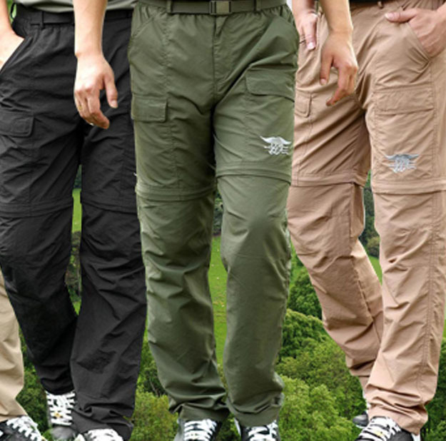 Outdoor anti uv fast dry men 39 s zip off hiking pants for Lightweight fishing pants