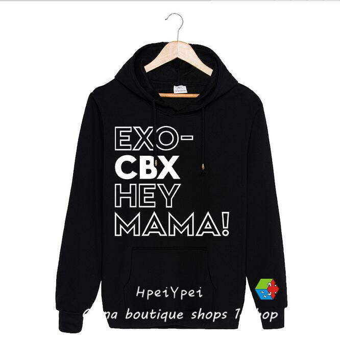 EXO CBX Hey Mama around the big bell combination album Bianbo Xian gold Minxi with hooded guard clothes