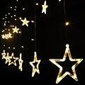 5 комплектов рождественских ламп 220В EU/US вилка 2 м 168 светодиодов романтическая сказочная звезда светодиодная занавеска гирлянда Свадебная Г...