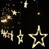 5set Christmas Lights 220V EU US Plug 2M 168leds Romantic Fairy Star LED Curtain String Light