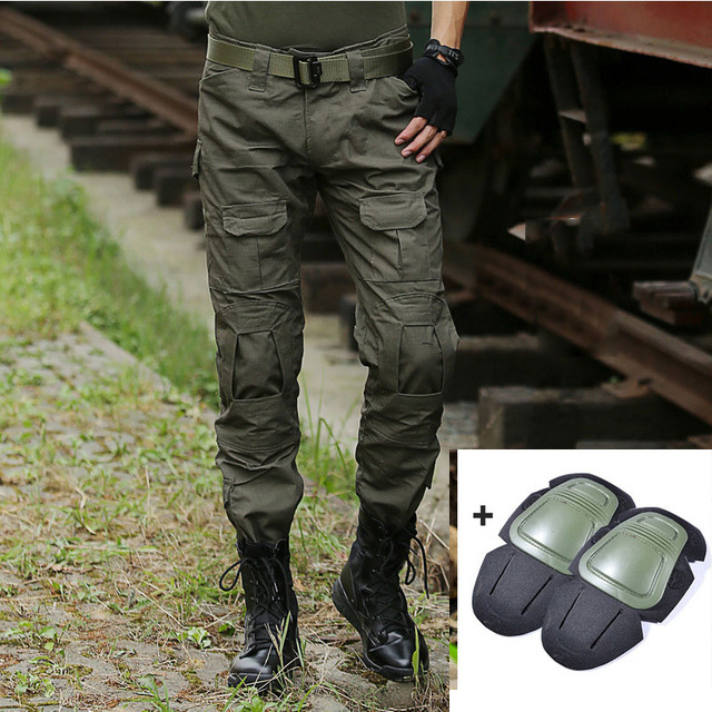 Work-Trousers Cargo-Pants SWAT Pantalon Knee-Pads Hunter Military Men Frog Army Camouflage
