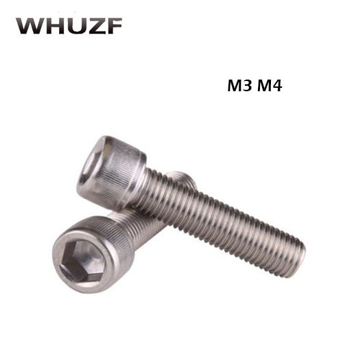 Lot25 Metric Thread M6*70mm Stainless Steel Hex Socket Bolt Screws