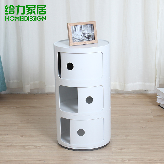 Small Bedside Cabinet Bathroom Cabinet Minimalist Modern European Fashion  Creative Storage Cabinets Lockers Cabinet IKEA Round
