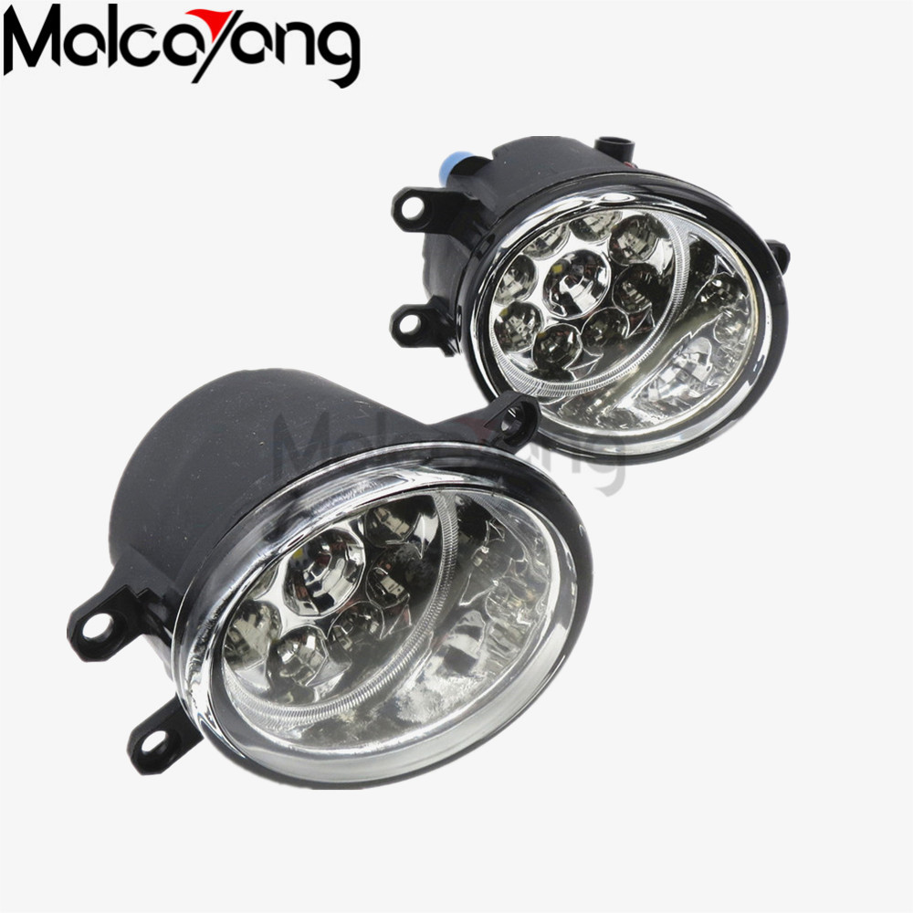 For TOYOTA COROLLA Verso MPV ZER ZZE R1 2004-2009 Car styling front bumper LED fog Lights high brightness fog lamps 1set for lexus rx gyl1 ggl15 agl10 450h awd 350 awd 2008 2013 car styling led fog lights high brightness fog lamps 1set