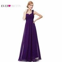 HE09768 Sapphire Blue Flowers One Shoulder Chiffon Padded Long Bridemaid Dresses 2013