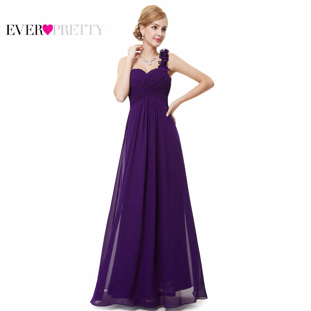 Wedding Bridesmaid Dresses Ever Pretty EP09768 Fashion Women Flower One Shoulder Chiffon Padded Long 2017 In From