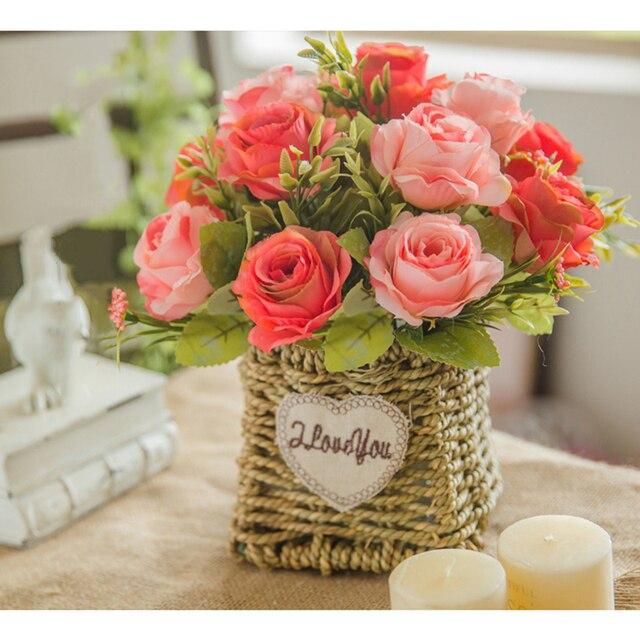 Aliexpress Buy 1 Set Artificial Flowers Rose Hydrangea Bouquet