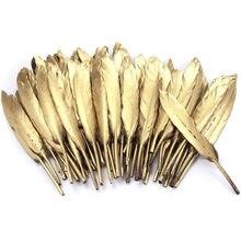 069b7a8791a2 Venta al por mayor oro Color plata ganso plumas de pato manualidades  accesorios de joyería