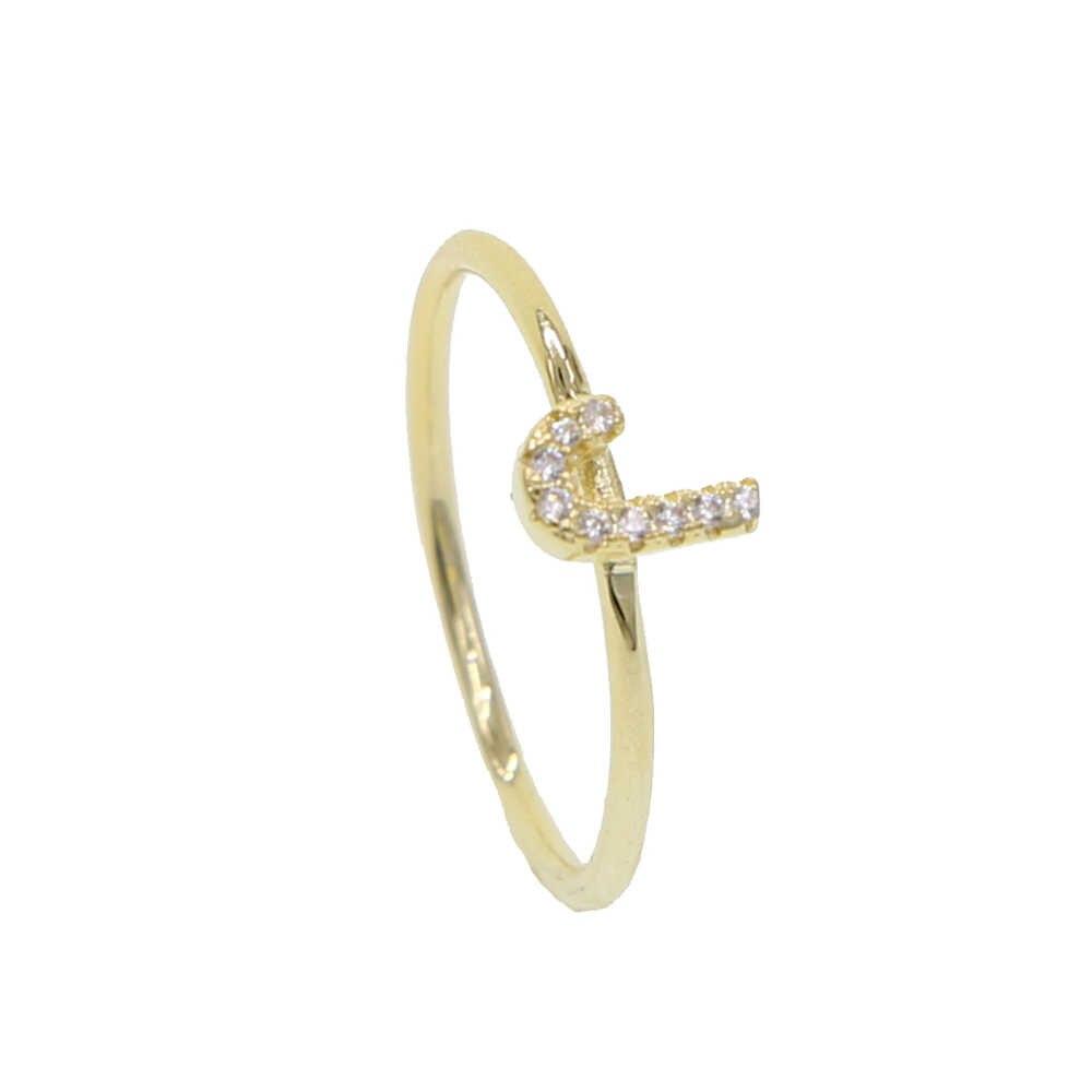 2019 Лето от A до Z персонализированные имя персональная буква 26 буквы алфавита кольцо Женщины Мини нежный Звезда Сердце позолоченное ювелирное изделие
