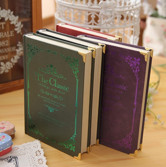 [ KIMCOOL ] THE CLASSIC Series European Notebook Vintage Notepad Retro Round Back Notebook Diary 1PCS