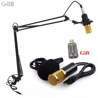 BM 800 Microphone With NB 35 Microphone Stand Professional Condenser USB System For Karaoke Amplifier Computer