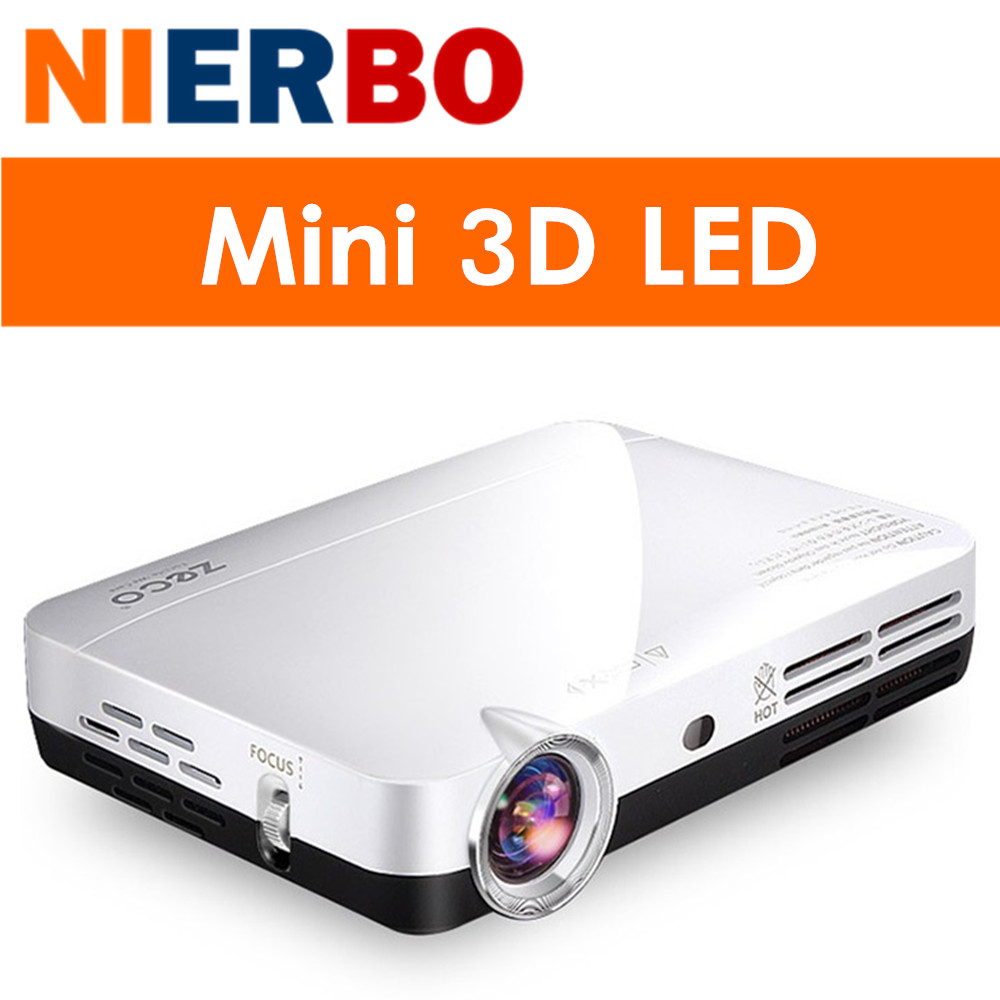 Mini 1080p Full Hd Led Projector Home Theater Cinema 3d: NIERBO 3D LED Projector Full HD 1080P Android Portable