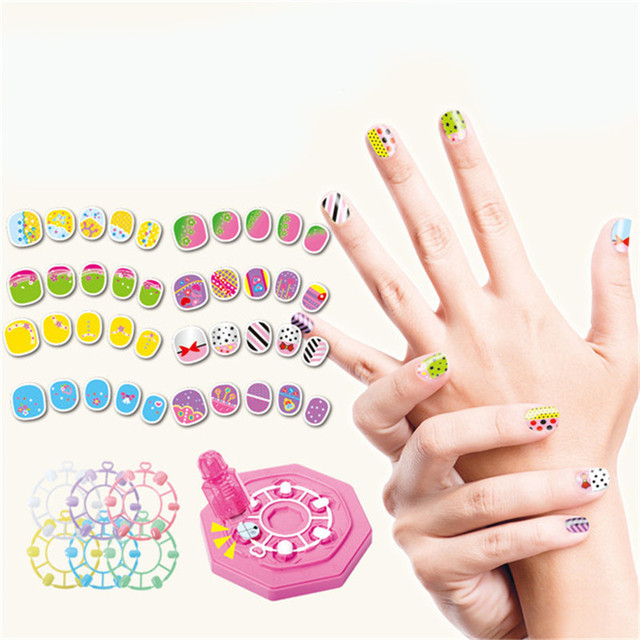 Girl Nail Stickers Diy Kids Toys For Children Pvc Manicure Sticker