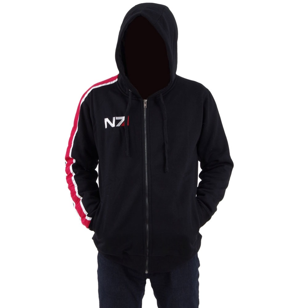 MASS EFFECT Cosplay Costume John Shepard Jacket Hoodie N7 Coat Men's Autumn Winter Sweatshirt